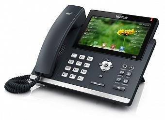 Телефон SIP Yealink SIP-T48S (16 аккаунтов, цветной сенсорный экран, BLF, PoE, GigE, БЕЗ БП)