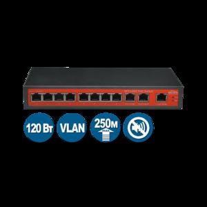 Wi-Tek WI-PS211G (Неуправляемый коммутатор 8 PoE портов 100Base-TX + 3 1000Base-T)