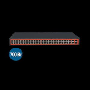 Wi-Tek WI-PS150GF (Неуправляемый коммутатор 48 PoE портов 100Base-TX + 2 Combo 1000Base-T/SFP)
