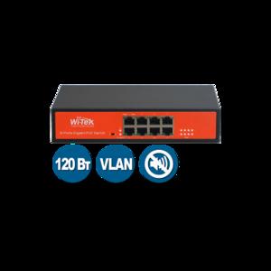 Wi-Tek WI-PS308G (Неуправляемый коммутатор 8 PoE порта 1000Base-T + 2 1000Base-T)