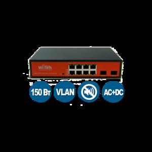 Wi-Tek WI-PS310GF (Неуправляемый коммутатор 8 PoE порта 1000Base-T + 2 SFP)