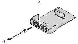 Panasonic KX-HT82480X (Плата на 4 внешних аналоговых линии с функцией Caller-ID)